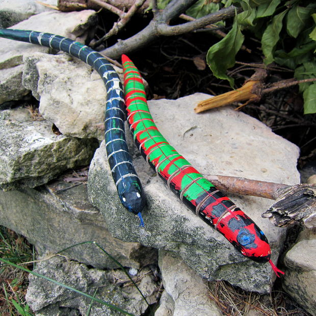 Antiqued Wooden Snake Toys by wold630 on Instructables