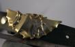 Dragon belt buckle in golden brass