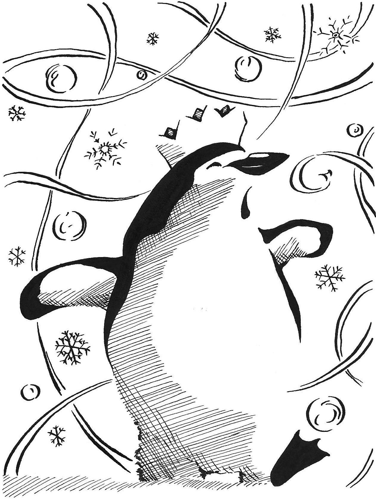 Inked penguin